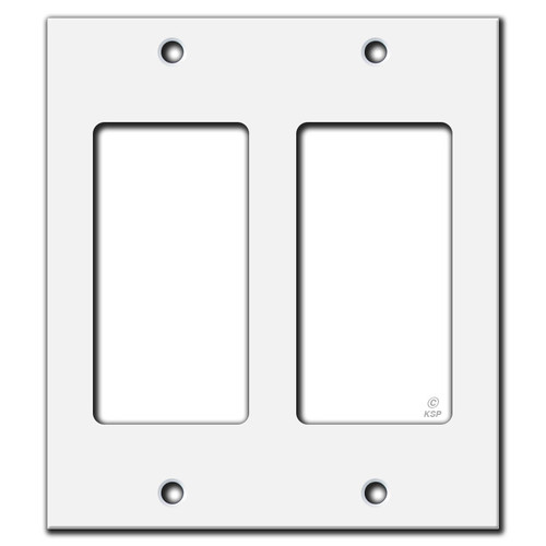 "4"" Smaller 2-Rocker Switch Faceplate"