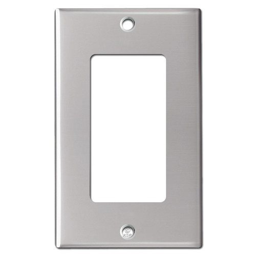 1 Decor Rocker/GFCI Switch Plates - Polished Stainless Steel
