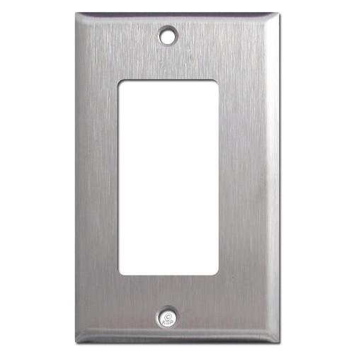 Offset Narrow Rocker Wall Plate - Satin Stainless Steel