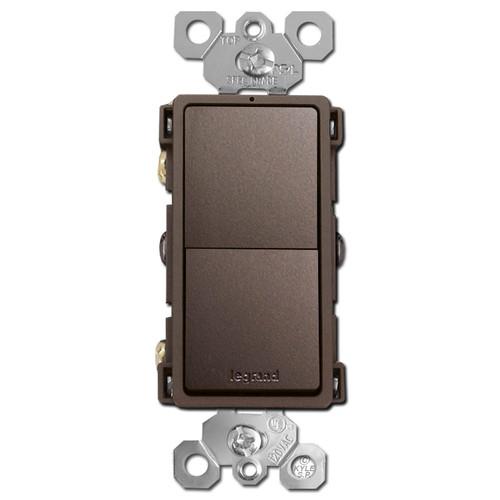 Dark Bronze Stacked Rocker Switch Single Pole or 3 Way