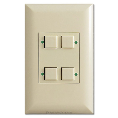 Classic Touchplate Low Voltage 4 LED Pilot Light Switch - Ivory