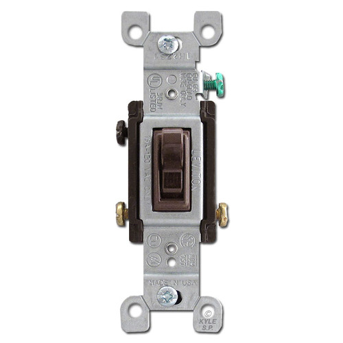 Brown 3 Way 15 Amp Toggle Switch