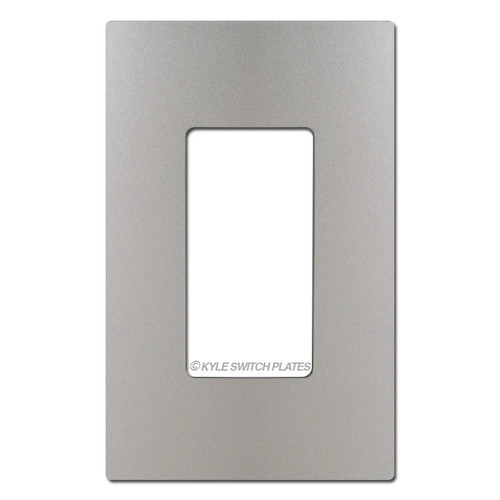 Nickel Screwless Wall Switch Plate Cover - Plastic 1 Gang Legrand