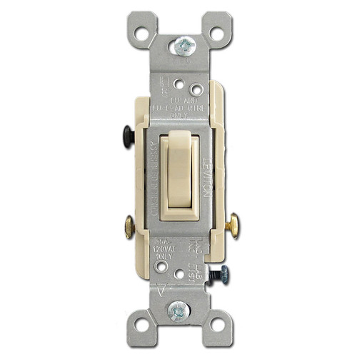 3 Way 15 Amps Ivory Toggle Switch