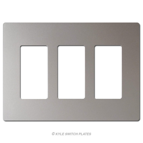 Nickel Wall Switchplate Screwless 3-Gang Plastic - Legrand