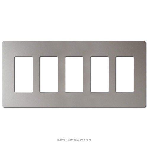 Nickel 5-Gang Decor Screwless Light Plate Covers Plastic - Legrand