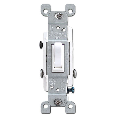 3-Way White Toggle Switches 15A