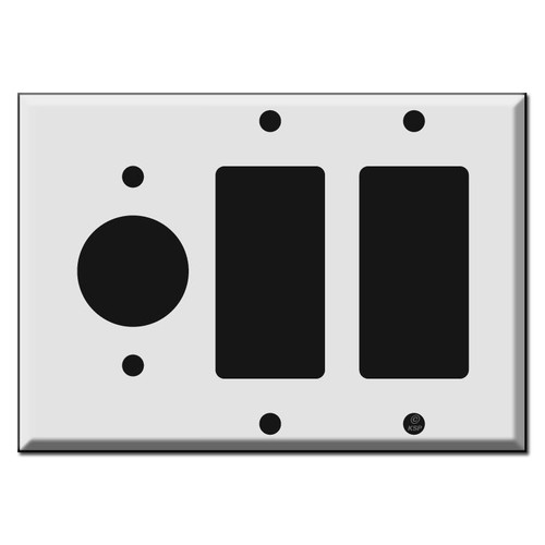 "1.4"" Round Outlet 2 GFCI Decora Rocker Wall Switch Plates"
