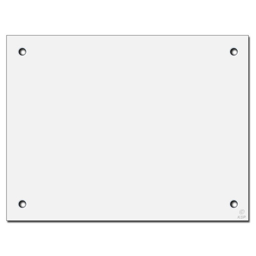 "10"" x 8"" Flat Panel Wall Plate Cover for Large Hole - Corner Screws"