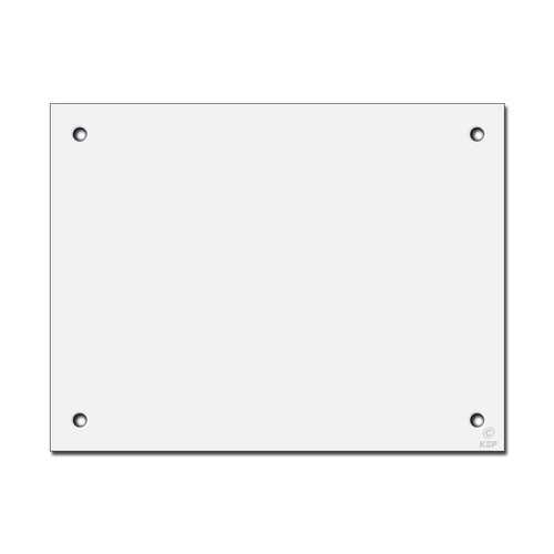 "8"" x 6"" Flat Wall Switch Plate Cover for Large Hole - Corner Screws"