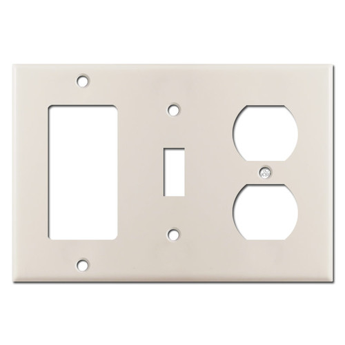 Decor Toggle Outlet Cover Plate - Light Almond