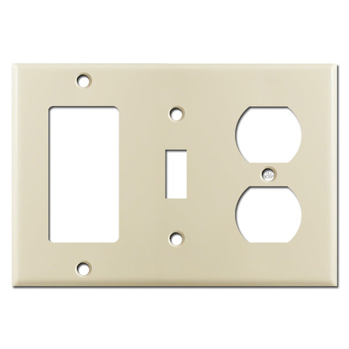 Rocker Toggle Outlet Light Switch Cover Plate - Ivory
