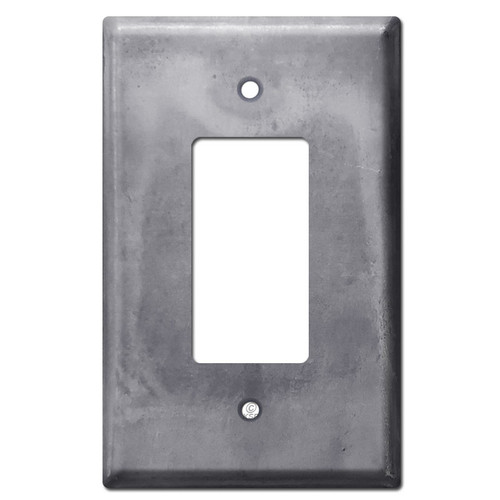 Oversized GFCI Decor Rocker Wall Plate - Raw Steel Paintable