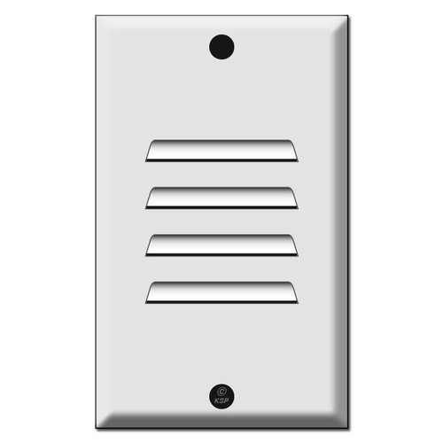 Step Light Switch Plate - Vertical Louver for LED Fixture