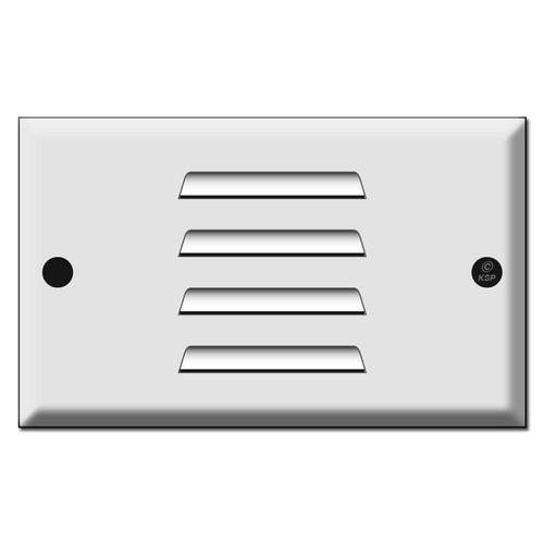 LED Step Light Wall Plate - Horizontal Louver Strap Mount