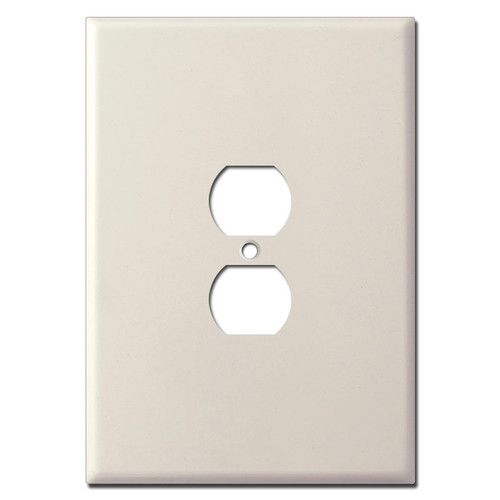 "Ultra Oversized Outlet Cover in 7.5"" Tall Size - Light Almond"