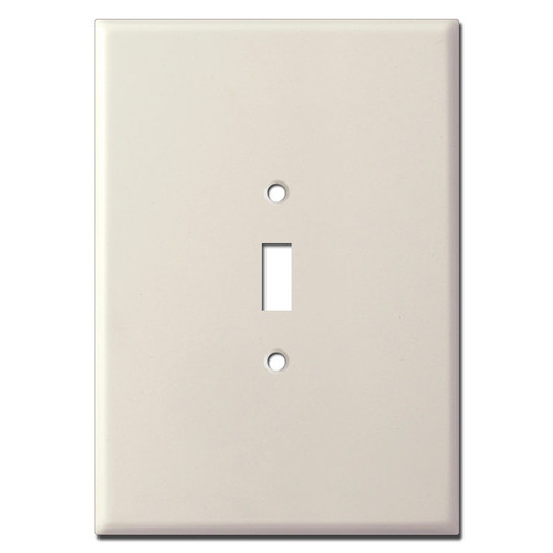 "Ultra Large 1 Toggle Switch Wall Plate 7.5"" Tall - Light Almond"
