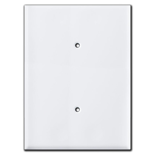 Ultra 7.5'' Jumbo 1 Blank Electrical Face Plate Covers - White