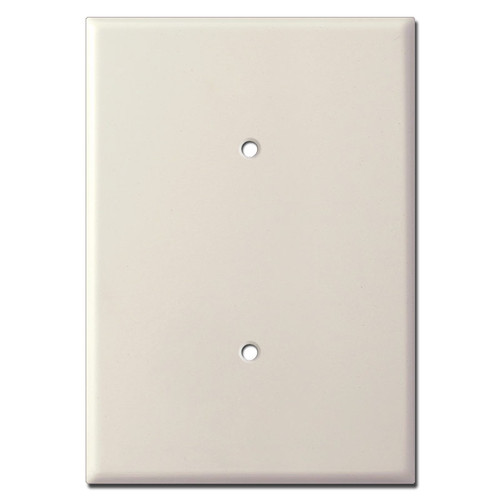 "Ultra Sized 7.5"" Blank Electrical Switch Plate - Light Almond"