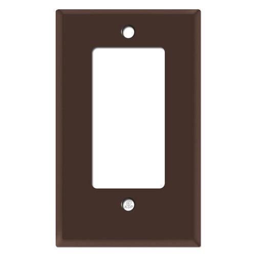 Half Short Decor Outlet Wall Switch Plate - Brown
