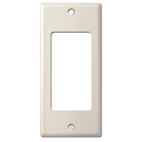"2"" Narrow 1 Decora Wall Switch Plate - Light Almond"
