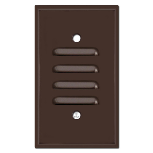 Slotted Step Light Wall Plate Vertical Cover - Brown
