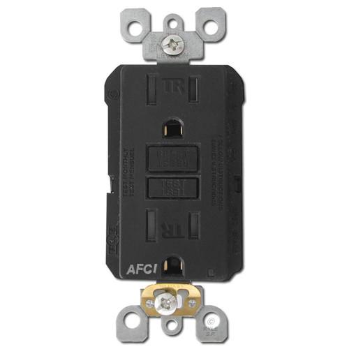 AFCI Outlet Leviton 15A Tamper Resistant - Black