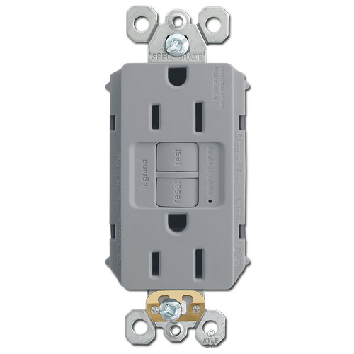 Gray 15A GFCI Outlets