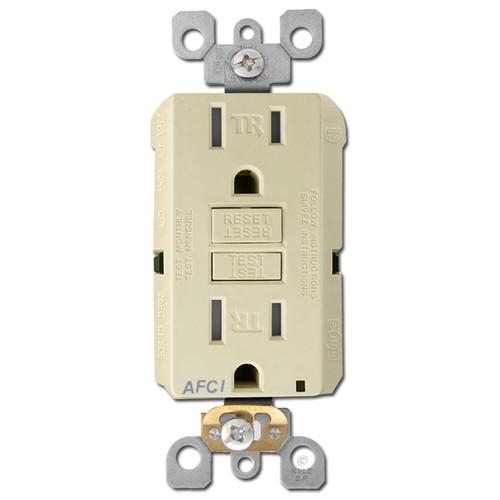 AFCI Electrical Outlet Leviton 15A Tamper Resistant - Ivory