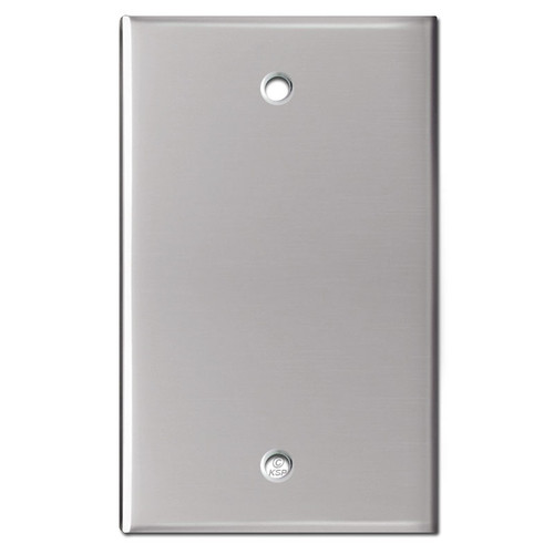 1 Blank Wall Switchplate - Polished Stainless Steel