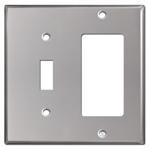 Decora Toggle Wall Switch Plates - Polished Stainless Steel