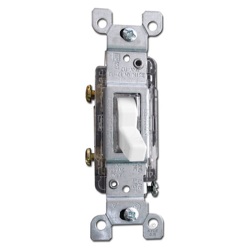 Lighted Toggle Light Switch Leviton 15A White