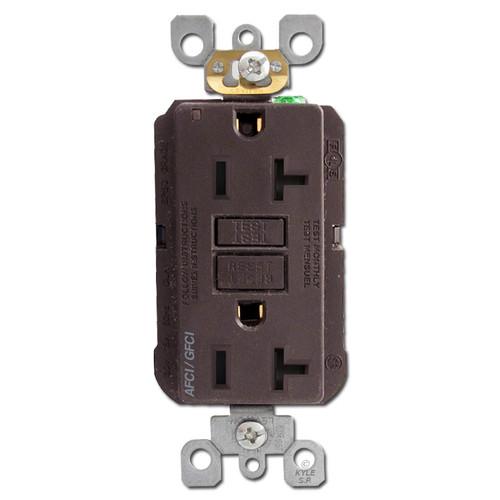 GFCI AFCI Electrical Receptacle 20A TR Leviton - Brown