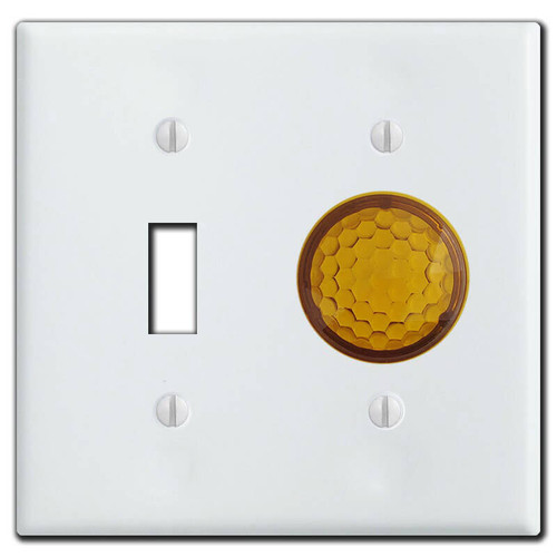 Toggle & Round Pilot Lighted Switch Plate Covers