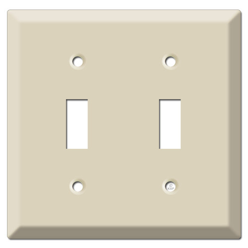 Deep 2 Toggle Electrical Wall Switch Plate - Ivory