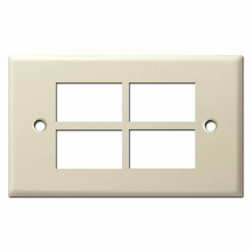 New Style 4-Button GE Low Voltage Light Switch Cover - Ivory