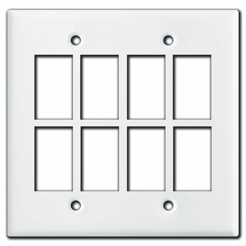 New Style Low Voltage 8-Switch Master Selector Panel - White