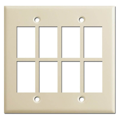 Low Voltage 8-Switch Master Selector Panel New Style - Ivory