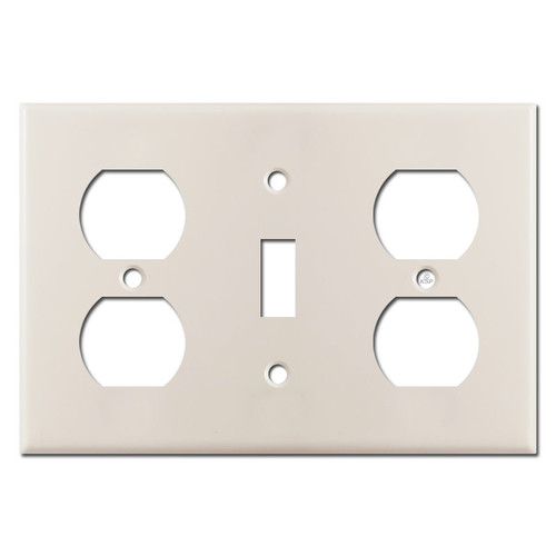 Outlet Toggle Outlet Combo Switch Plate - Light Almond