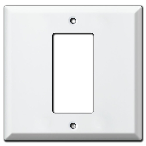 Deep Center 1 GFI Decora Rocker Light Switch Cover - White