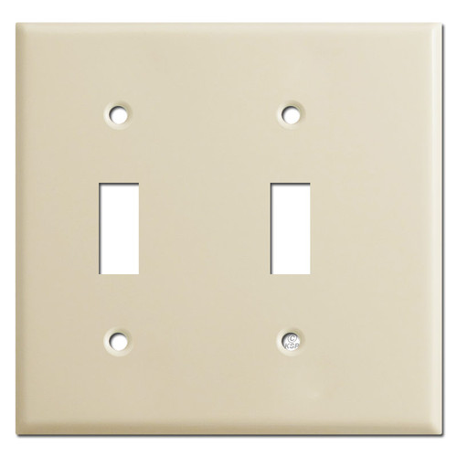 Narrow 2 Toggle Switch Plate Cover - Ivory