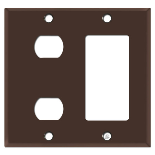 2 Despard Stacked Toggle + 1 Decora Cover Plate - Brown