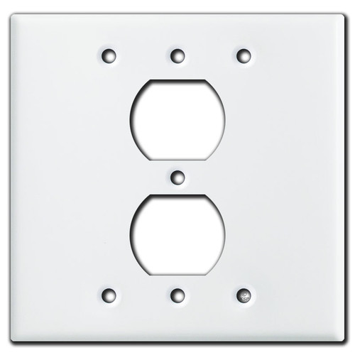 Double Wall Plate for Middle Mount Duplex Receptacle
