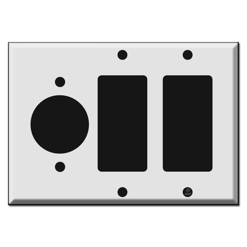 "1.62"" Round Outlet 2 GFCI Decora Rocker Wall Switch Plates"