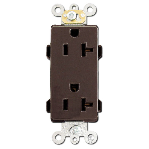 Brown 20A Decora Outlets Commercial Grade