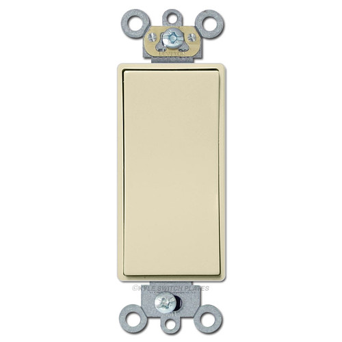 Momentary Contact Low Voltage Decora Switch 24V 3A - Ivory
