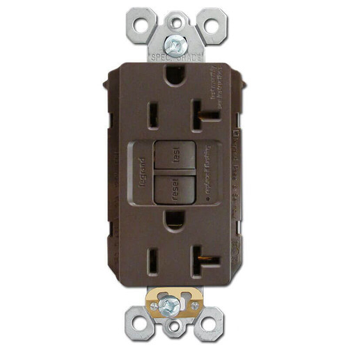 Brown 20A GFCI Plug