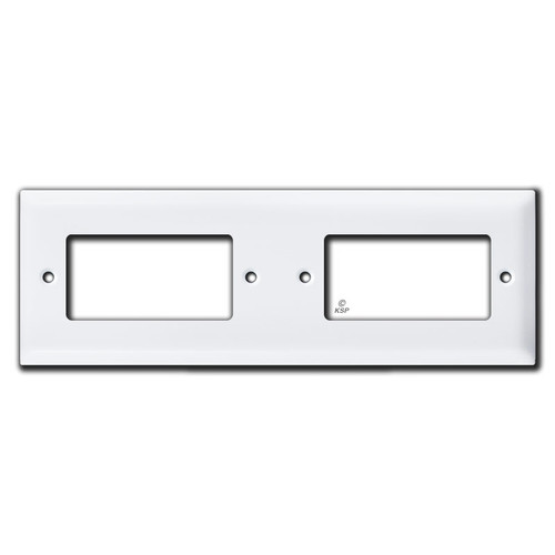 Stacked 2 Decora Outlet Switch Tandem Wall Plate Cover - White
