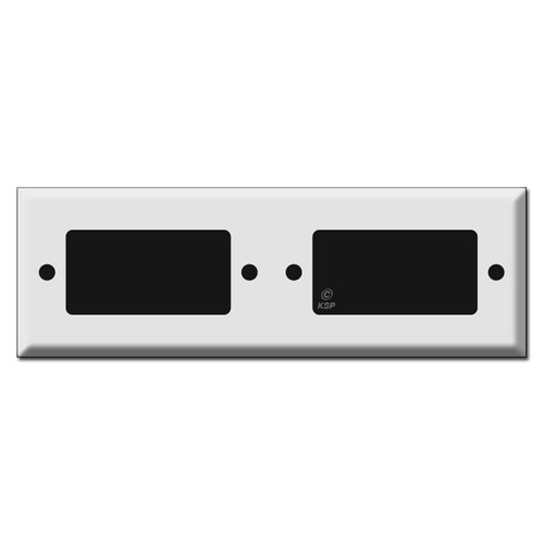 Long Tandem 2 Rocker GFCI Outlet Cover Switch Plates