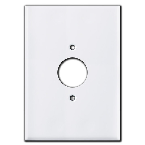 """Really Big 6.38"""" Oversized Single Receptacle Cover - White"""
